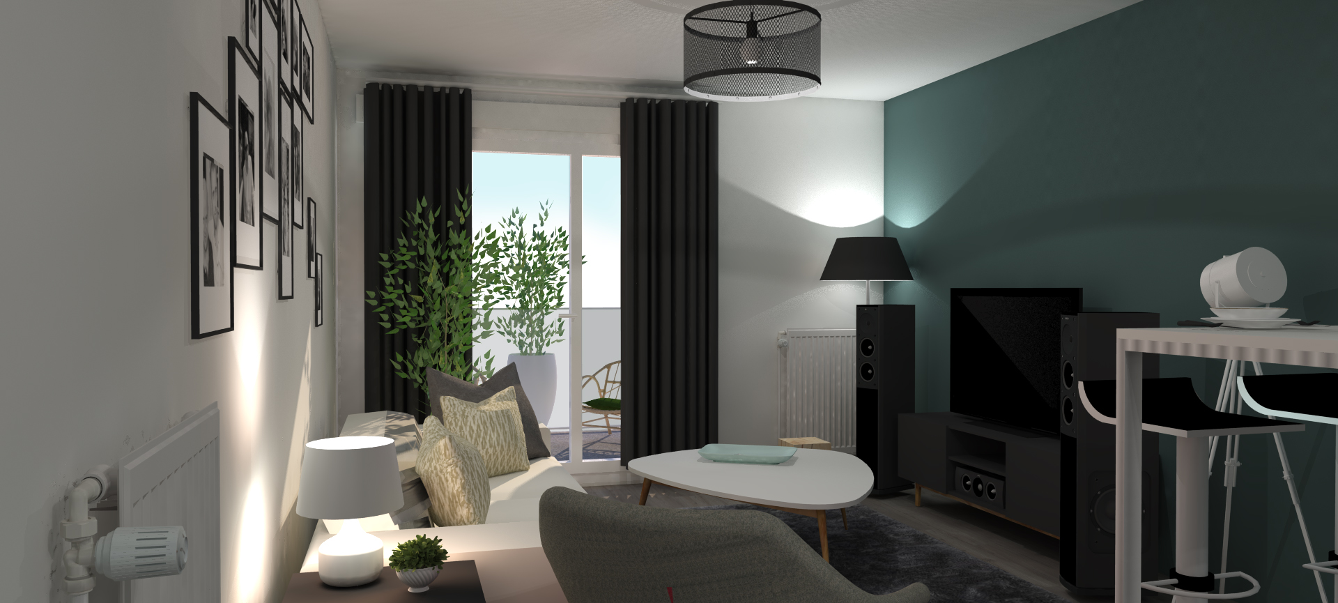 projet r novation am nagement d coration hem salon delfour charlotte. Black Bedroom Furniture Sets. Home Design Ideas