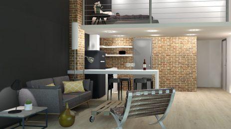 Rénovation d'un appartement situé à Roubaix, dans une ancienne friche textile,réhabilité en habitation.