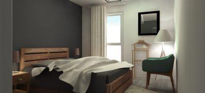 décoration appartement à hem, travaille de couleurs et mobiliers