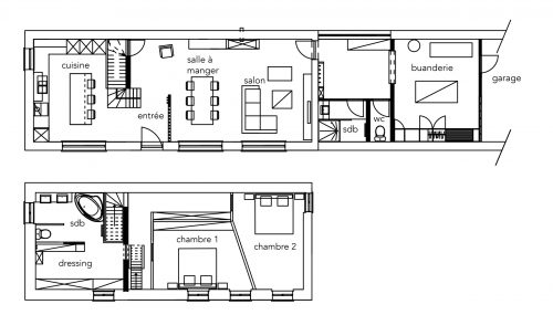 plans 2D projet maison