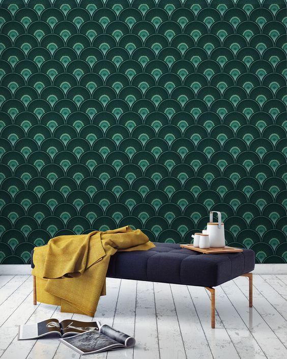 blog coup de coeur papier peint papermint d coration tendance delfour charlotte. Black Bedroom Furniture Sets. Home Design Ideas
