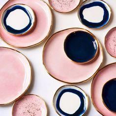 design objet, vaisselles céramique, le rose dans nos intérieurs ,sur les murs, en décorations, en objets
