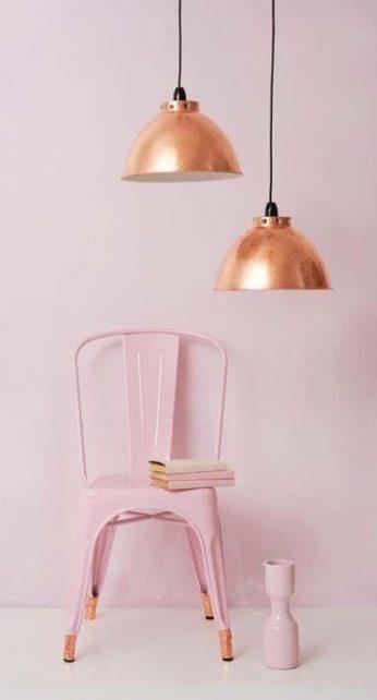 mur peint, design objet, chaise, le rose dans nos intérieurs ,sur les murs, en décorations, en objets