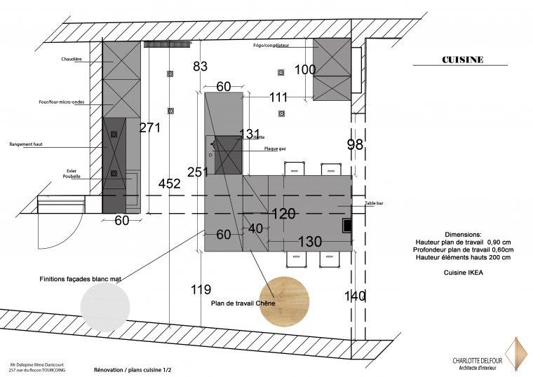 Rénovation Tourcoing Plan detail cuisine