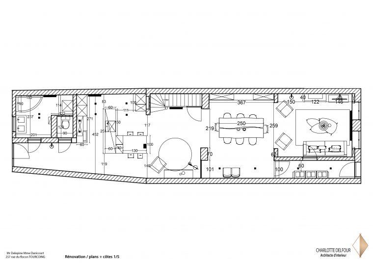 Rénovation Tourcoing Plan + côtes