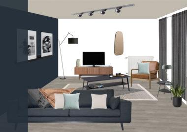 shopping liste salon mons-en-baroeul noyer bleu nuit gris beige metal LA REDOUTE IKEA MAISON DU MONDE FLY
