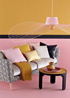 design objet, mur peint le rose dans nos intérieurs ,sur les murs, en décorations, en objets