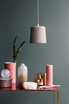 design objet ,le rose dans nos intérieurs ,sur les murs, en décorations, en objets