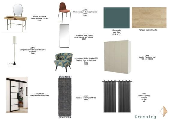 shopping liste dressing